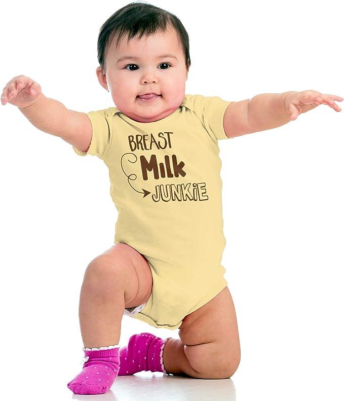 Milk Junkie Onesie ORGANIC Cotton Romper Baby Shower Gift Funny Present