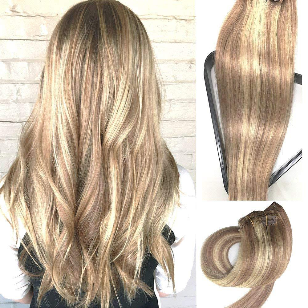 Amazon Myfashionhair Clip In Hair Extensions Real Human Hair