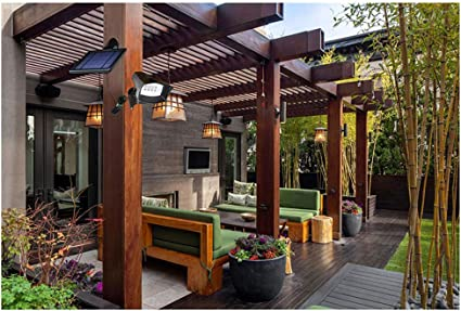 3.5W Led Proyector Solar Con Estaca Para Césped, Led Foco Solar Para Exterior, Blanco Cálido, Luz Solar Con Pincho Impermeable IP44, Iluminación De Pincho Insertado Para Jardín, Patio, Camino, Pared (5.0M Cable):