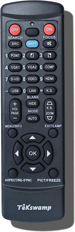 Black for JVC DLA-RS40 TeKswamp Video Projector Remote Control