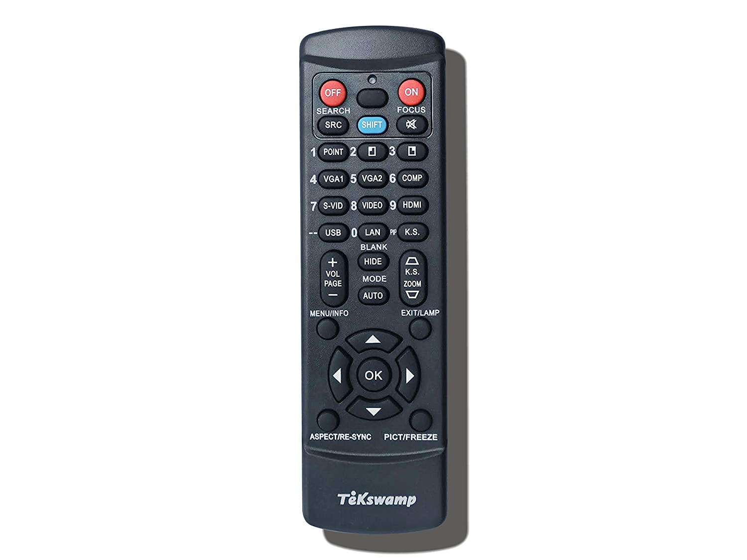 for Sharp XG-C330X TeKswamp Video Projector Remote Control White