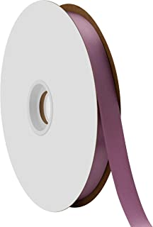 "product image for Offray Berwick 5/8"" Single Face Satin Ribbon, Amethyst Purple, 100 Yds"