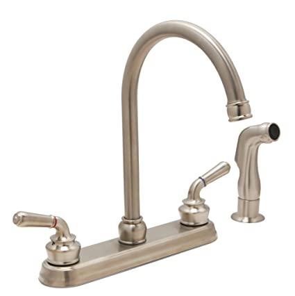 Attrayant Huntington Brass 63238 72 2 Handle High Arc 8 Inch Kitchen Faucet With