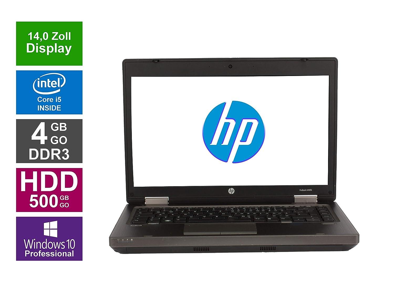HP ProBook 6460b Notebook | pantalla de 14 pulgadas (Intel Core i5 - 2520 M @ 2,5 GHz, 4 GB de memoria RAM DDR3, disco duro de 500 GB, grabadora de DVD, ...