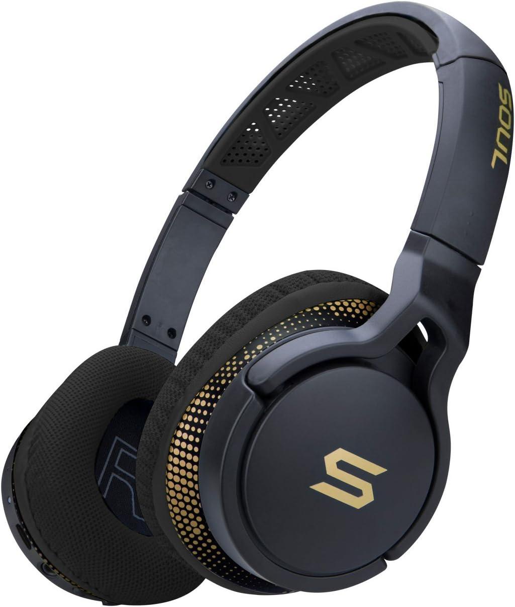 Bluetooth Headphones, Soul Electronics Transform Wireless Sport Headset Active Performance On-Ear Sports Earphones for Running Gym Workout Jogging - Storm Black