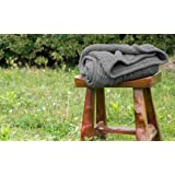 Knitted Sherpa Throw Blanket Grey Knit-Sherpa 50x60 Rustic Home Decor Bedding blanket by Bedsure