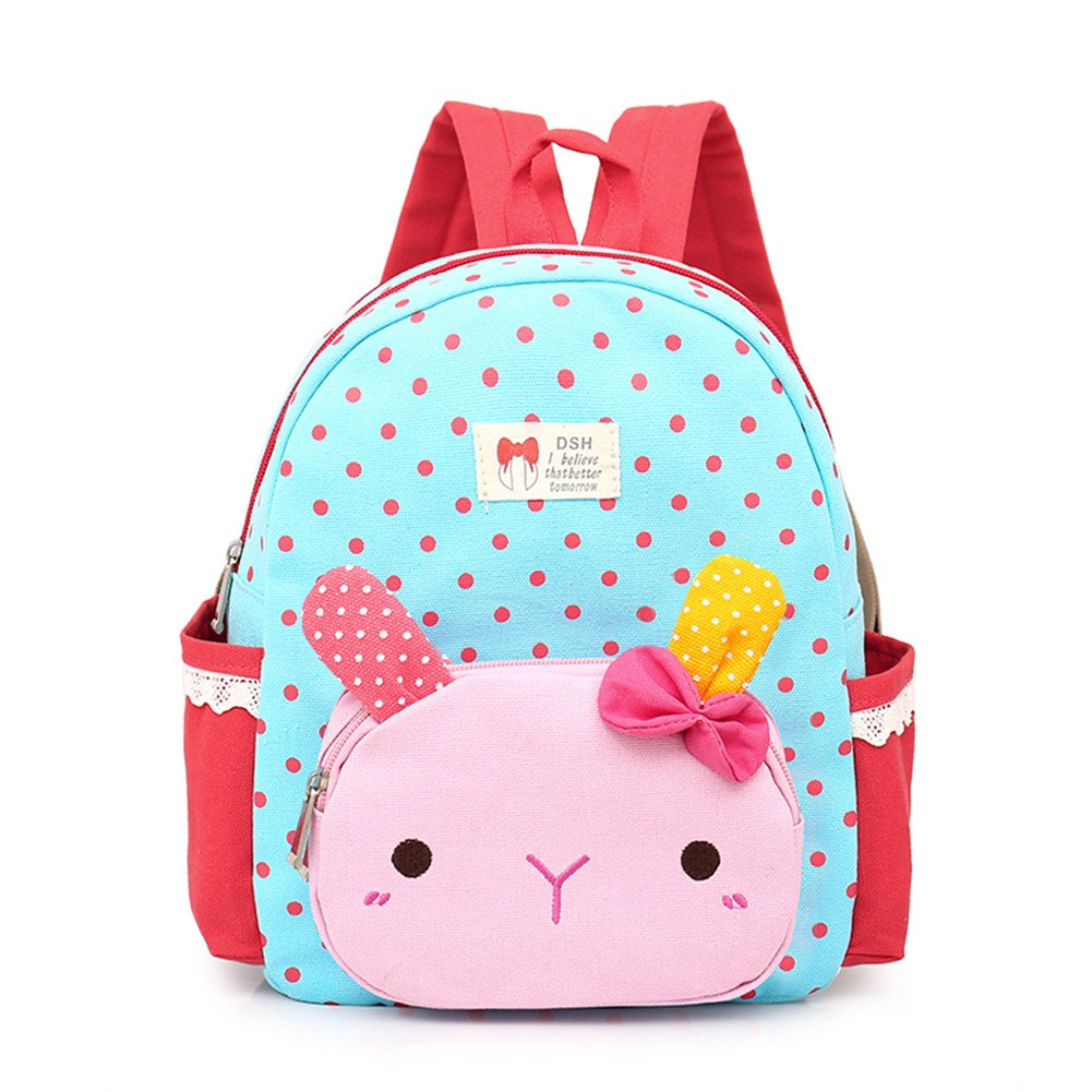 Luerme Kids Girls Backpacks Preschool Bag Children School Bag Cute Cartoon Rabbit Rucksack