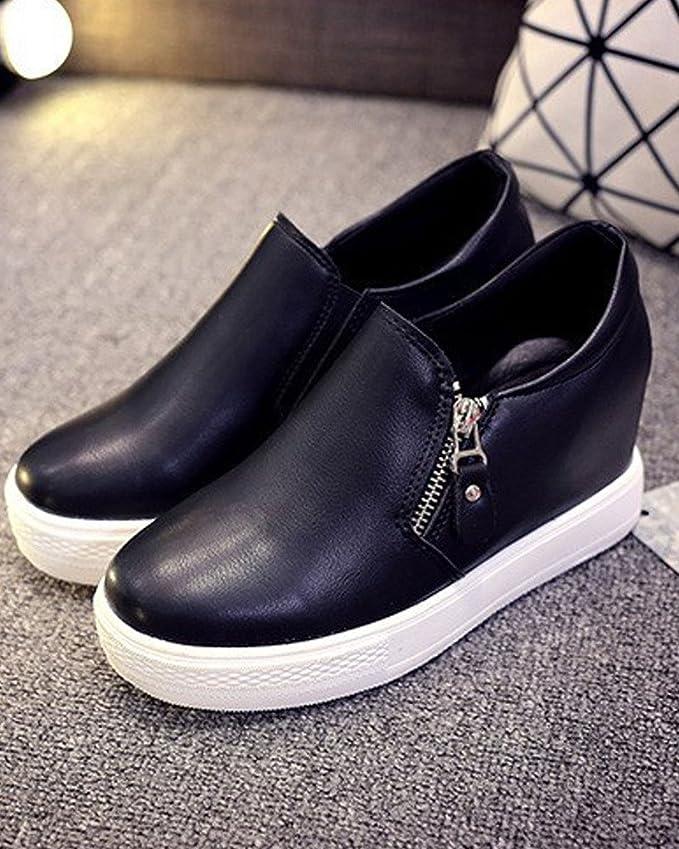 1aa621af Minetom Mujer Otoño Invierno PU Cuero Botas Botines Plataforma Confortables  Suela Gruesa Zapatos: Amazon.es: Zapatos y complementos