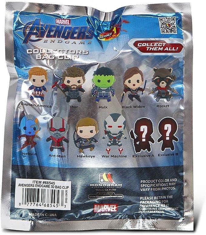 Blind Bag Keychain Marvel Key Endgame Neuf Avengers Capitaine Marvel Clip