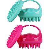 Soaab Shampoo Brush Scalp Massager Exfoliating Brush, Soft Silicone Brush For Hair Stimulation with Body Brush Massage Brush Attachment (Green)