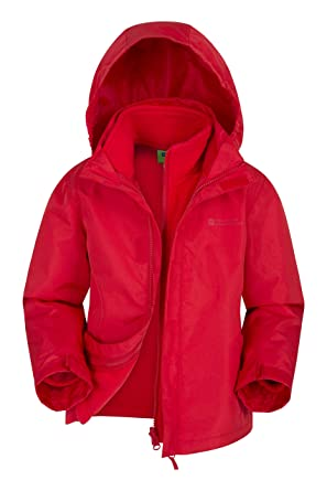 f97a283f4 Mountain Warehouse Fell Kids 3 in 1 Jacket - Water Resistant Triclimate  Rain Jacket, Detachable