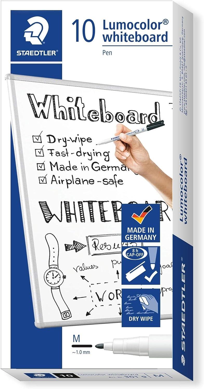 Staedtler Lot de 10 Marqueur pour Tableau blanc Bleu