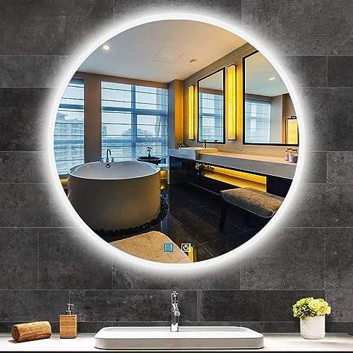 Round Bathroom Vanity LED Mirror
