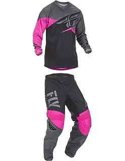 Fly Racing Kinetic Shield Motocross Pants//Jersey Set Port//Blue 36W Pants//XL Jersey