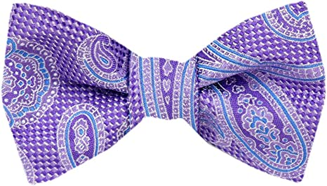 New in box men/'s silk pre-tied bow tie plum dark purple wedding formal prom