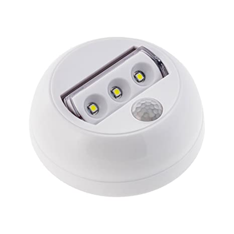 SEBSON® LED Lampara sensor movimiento, luz de noche, funciona con baterías