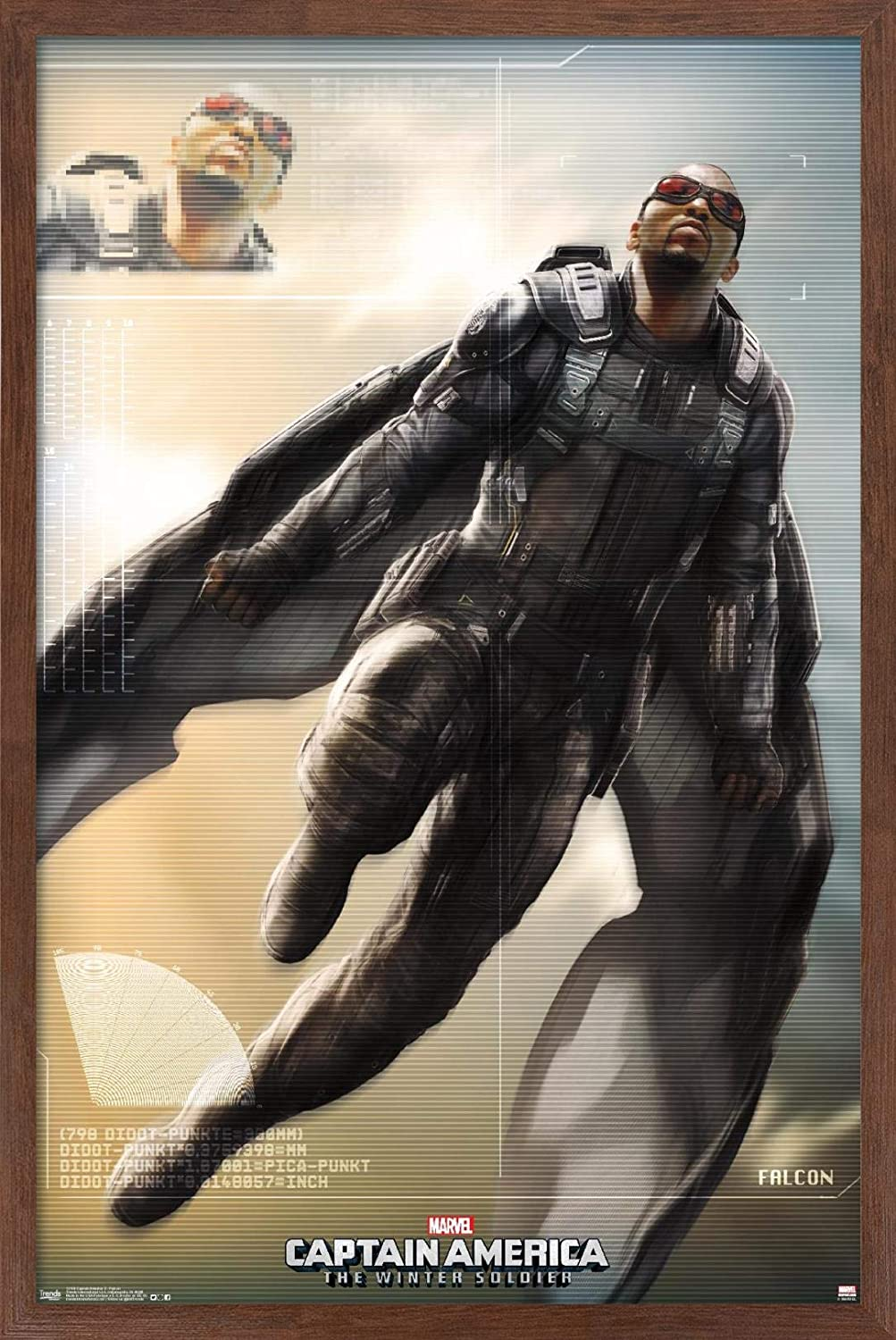 Trends International Marvel - Captain America - The Winter Soldier - Falcon Wall Poster, 14.725