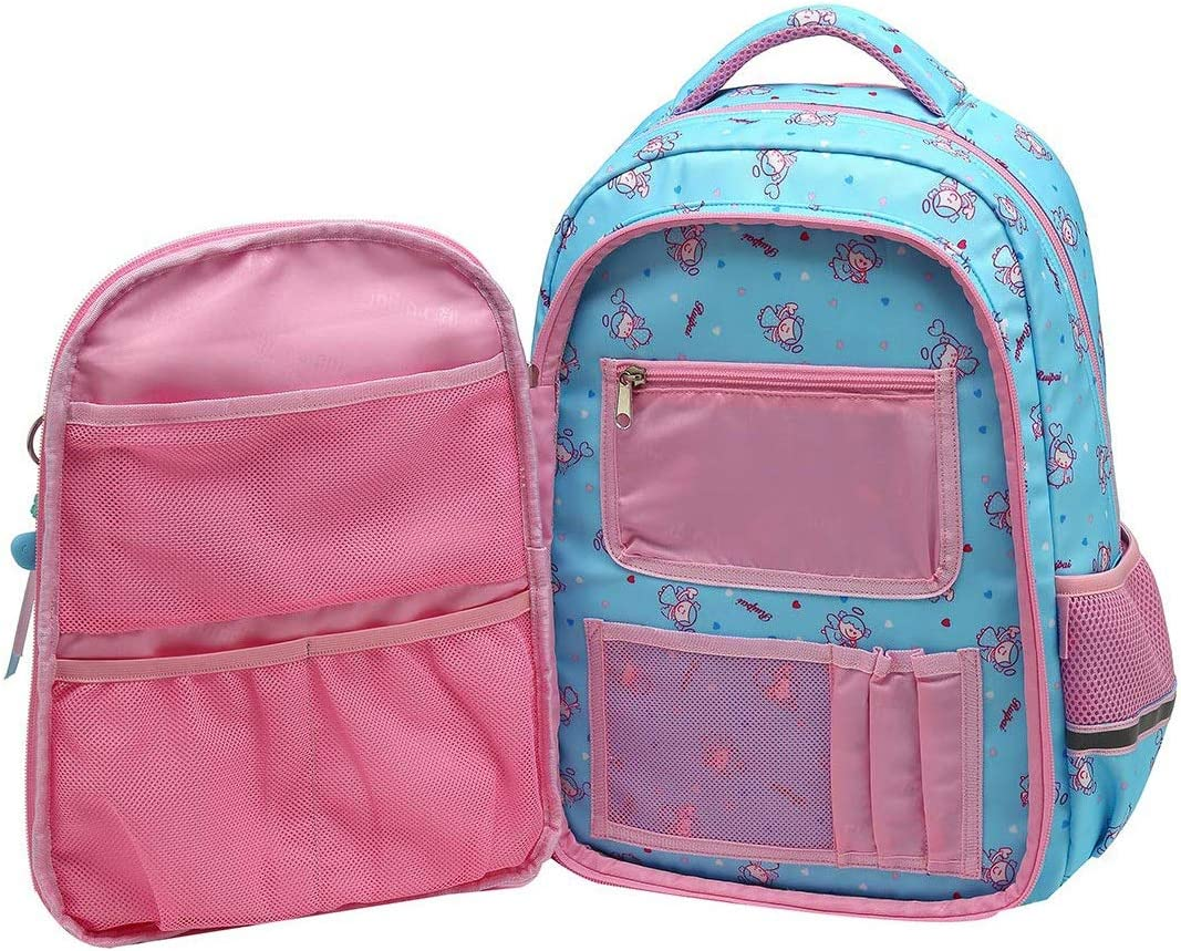 ZOUQILAI Childrens School Bag Waterproof Primary School Backpack 6-12 Years Old Girl Cute Princess Backpack Large Capacity