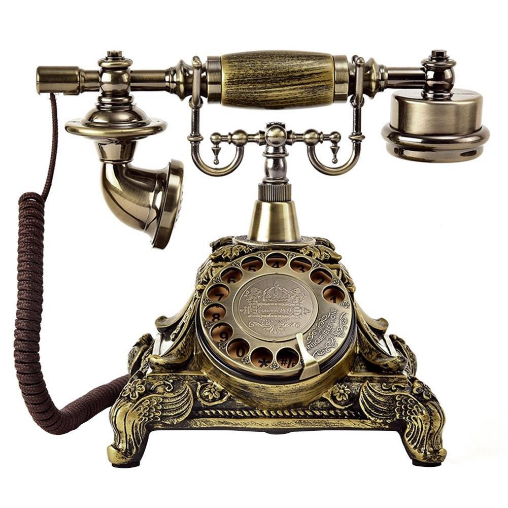 ビンテージロータリーダイヤルアンティーク電話w/リダイヤル固定電話(304-3)(コーヒー) niomou B07PVDW7HW 304-4カフェイン、スーパーウェイト、スーパーウェイト  304-4カフェイン、スーパーウェイト、スーパーウェイト