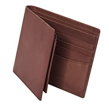 Cartera Hombre Piel de Zoresyn Cartera Billetera para tus Tarjetas de Crédito y Débito Diseño Minimalista y Elegante Marrón: Amazon.es: Equipaje