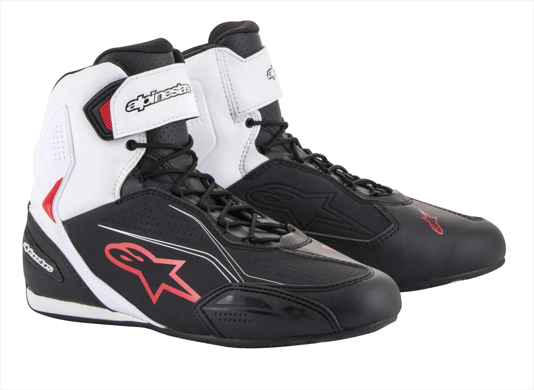 Alpinestars Faster-3 Shoes (10.5, Black/White/Red) by Alpinestars