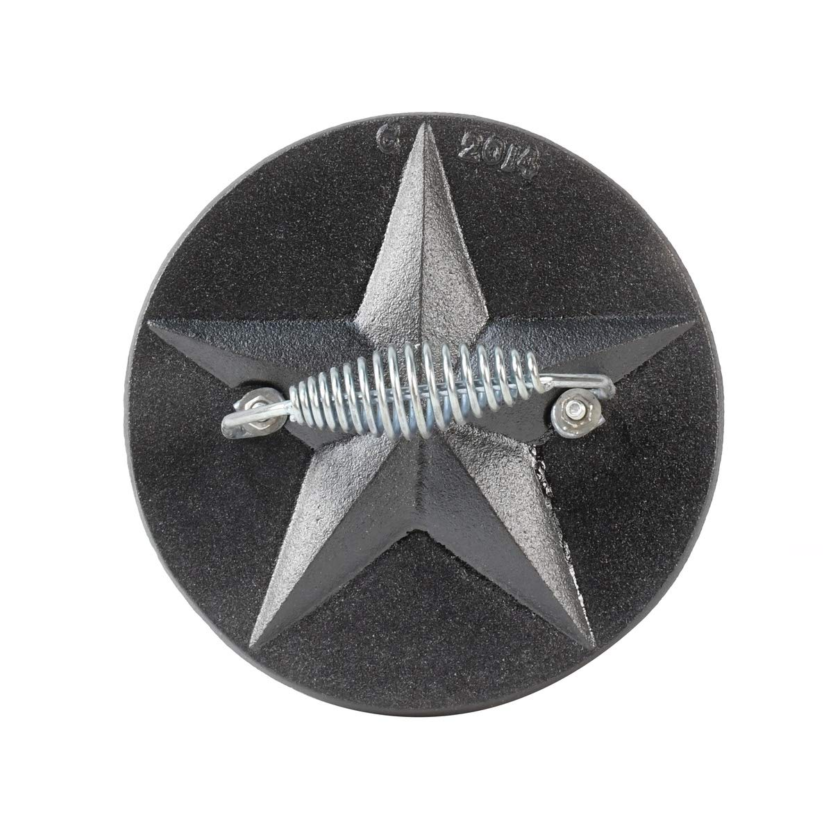 Cast Iron Texas Star Steak Press Flat Bacon Burger Patty Hamburger BBQ Grill Tool by TG,LLC
