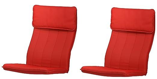 2 x IKEA cojines para Poang sillón, Ransta rojo (Juego de 2 ...