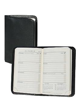 Scully piel Mini agenda negro: Amazon.es: Oficina y papelería