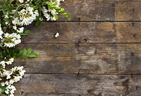 CSFOTO 8x6ft Background for Blossom White Flower Branch on Rustic Wood  Plank Photography Backdrop White Floral Spring Bouquet Child Baby Kid  Artistic