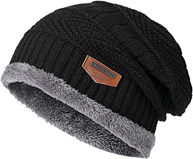 Do Not Touch My Phone Hat for Men and Women Winter Warm Hats Knit Slouchy Thick Skull Cap