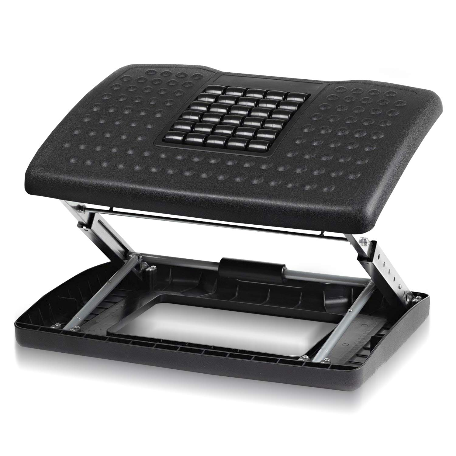 Halter F6068 Adjustable Height Foot Rest with Rollers for Foot Massage - Black by Halter