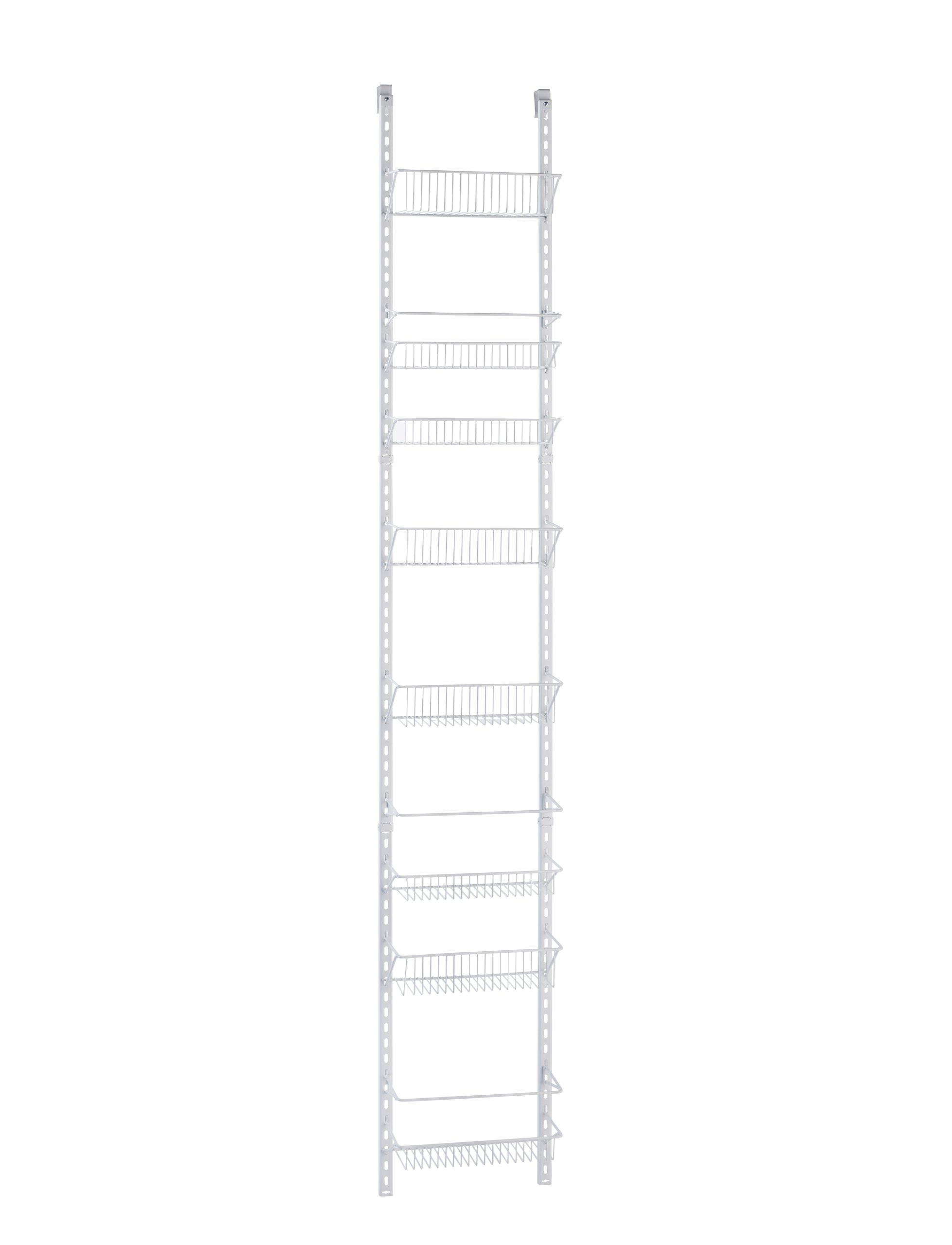 ClosetMaid 1231 Adjustable 8-Tier Wall and Door Rack, 77-Inch Height X 12-Inch Wide