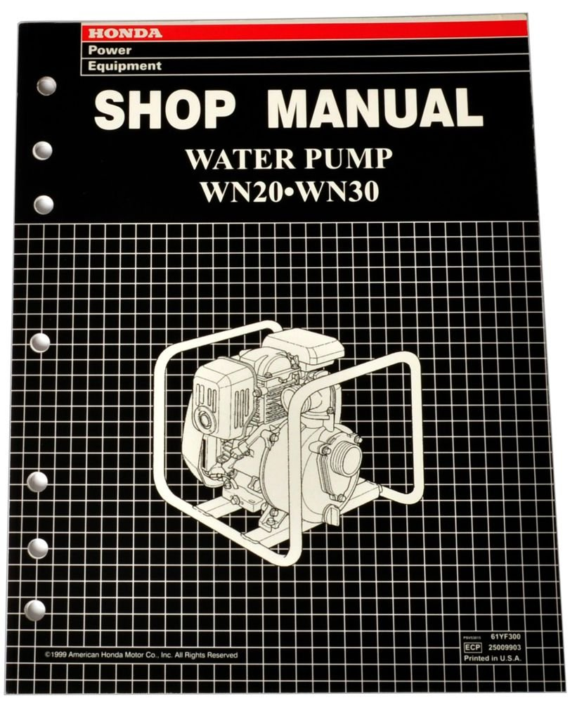 Honda WN20 WN30 Pump Service Repair Shop Manual
