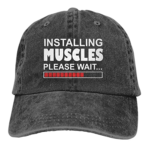 MHT3AC Installing Muscles Please Wait Adult Cowboy Hat Baseball Cap  Adjustable Athletic Customized Awesome Hat at Amazon Men s Clothing store  5c3066d8901