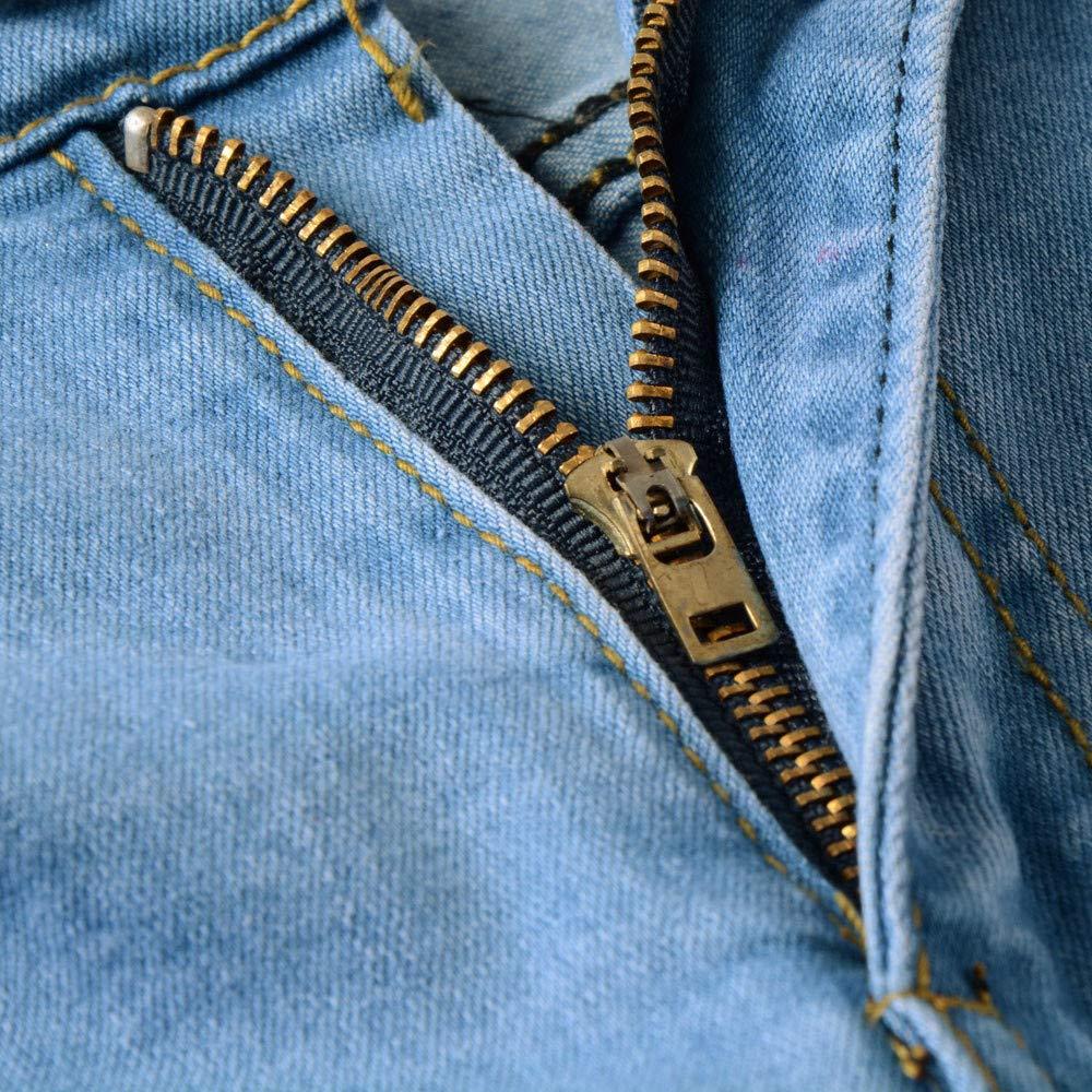 TAOtTAO Pantalones Vaqueros Ajustados para Motociclista ...
