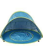 6247aac35 WOVELOT Tienda De Playa para Bebé Piscina De Sombra Portátil A Prueba De  Agua Refugio Parasol