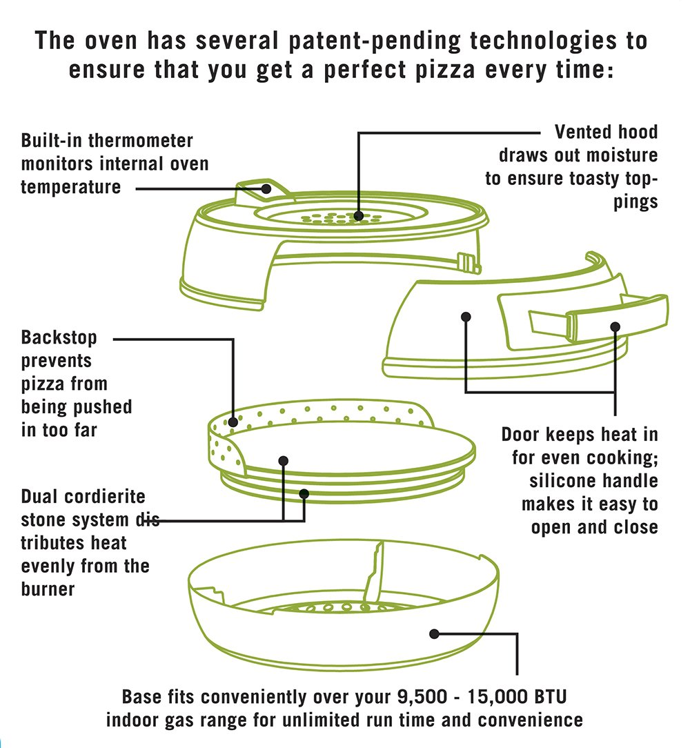 Pizzacraft PC0601 Pizzeria Pronto Stovetop Pizza Oven by Pizzacraft (Image #6)