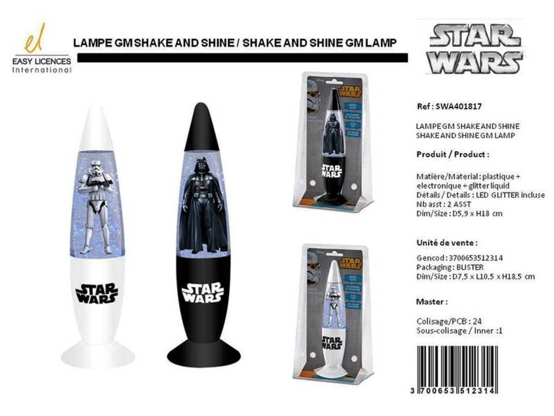 Unbekannt BETA SERVICE EL51231 - Star Wars Lampe Shake'n'Shine 2 Motive, 18 cm