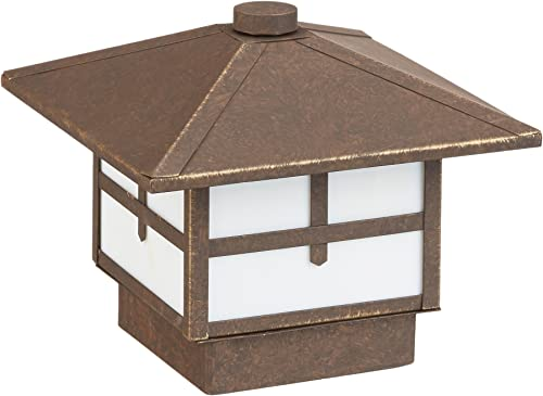 Progress Lighting P5262-46 Craftsman One Light Landscape from Mission Collection Dark Finish, Weathered Bronze