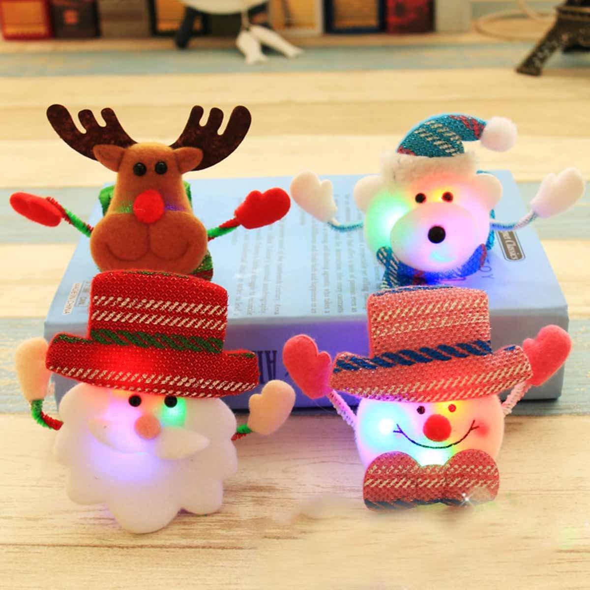 YeahiBaby Santa Claus LED Glow Slap Bracelet Paillettes Wristband per Bambini Ragazzi Ragazze Adulti Compleanno Festa di Natale Favori