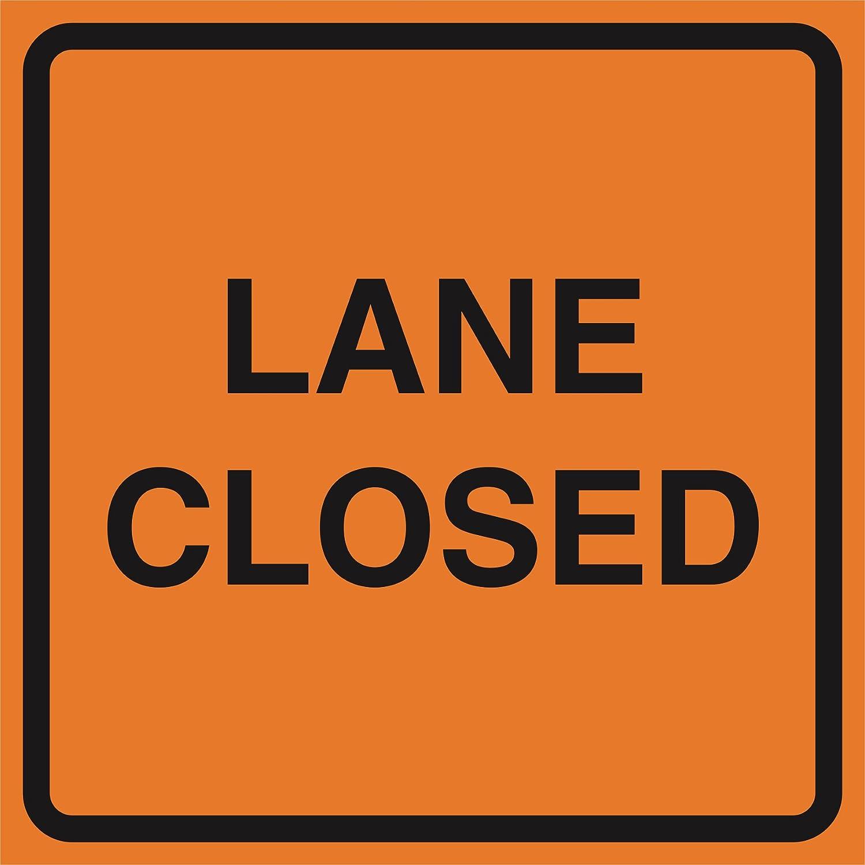 Aluminum Lane Closed Orange Construction Work Zone Area Job Site Notice Caution Road Street Signs Commercial Metal 12x
