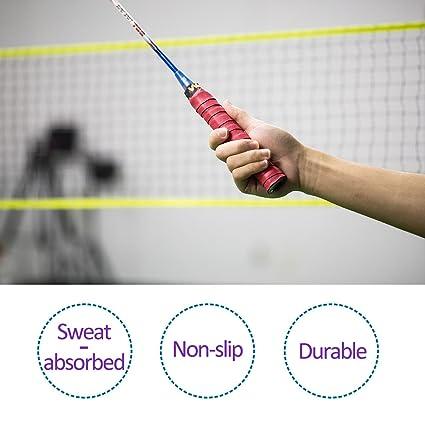 Windwalker M1 10pics de Sobregrip cinta de agarre antideslizante absorbente para raquetas de tenis badminton pesca padel volante bate de beisol multicolor: ...