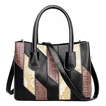 YTTY Weiblichen Handtasche Weichem Leder Handtasche Mode Hit Farbe ...