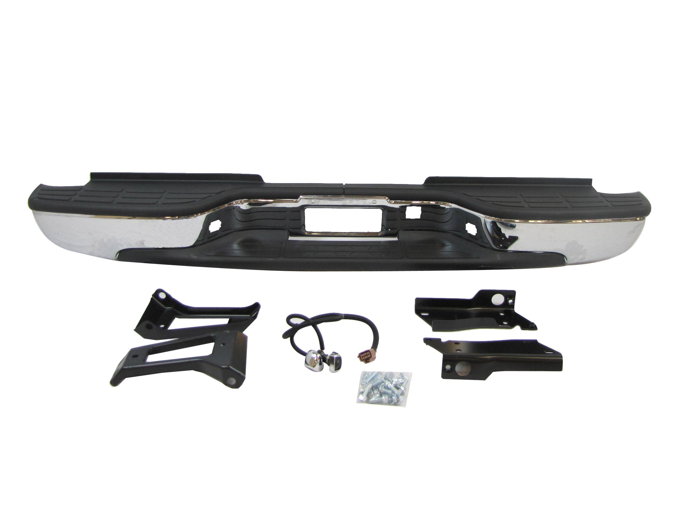 New Rear Step Bumper ASSY Chrome 1999-2006 Chevy Siverado Gmc Sierra 2500HD 3500 by NEW AFTERMARKET PARTS