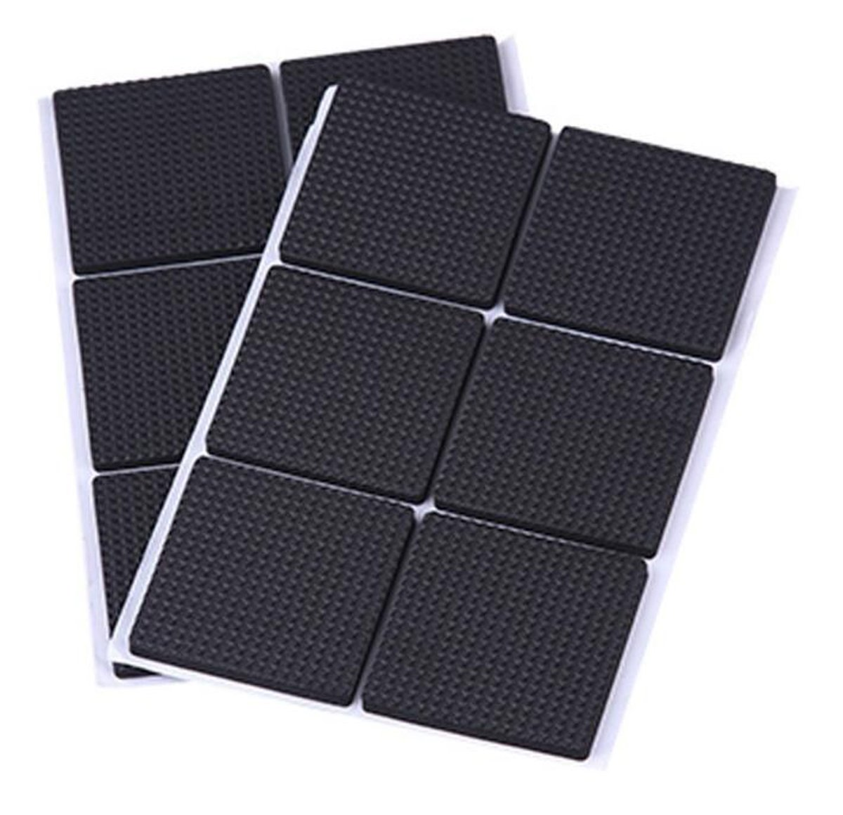 ASTRQLE 3Set Black Multi-functional Self Stick Adhesive Thickening Silicone Rubber Non-slip Table Mats Furniture Pads Floor Noise Dampening Bumper Buffer Protection Chair Pad (12pcs quadrate)