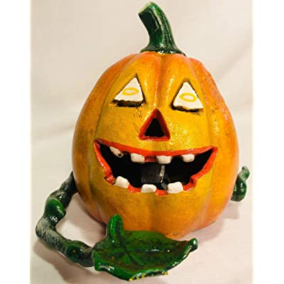 Pumpkin Jack O Lantern Cast Iron Mechanical Bank: Kitchen & Dining