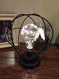customer reviews table desk lamp atomic age led metal accent light