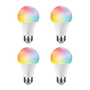 Sengled Smart LED Multicolor (Element Color Plus) A19 Bulb, Hub Required, RGBW Color & Tunable White 2000-6500K, A19 60W Equivalent, Works with Alexa, Google Assistant & SmartThings, 4 Pack