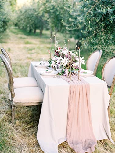 Wedding Table Linens.Table Runner Cheesecloth Gauze Muslin Rustic Wedding Arbor Decor Table Runner For Wedding Banquet Decoration Boho Farmhouse Shabby Chic Country Rustic