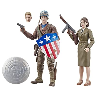 "Marvel Legends Series Captain America: The First Avenger 6""-Scale Movie-Inspired Captain America & Peggy Carter Collectible Action Figure 2 Pack ( Exclusive): Toys & Games"